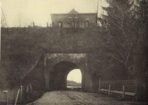 Haltestelle Uedemerbruch um 1908 und Tunnel Straße Dorf