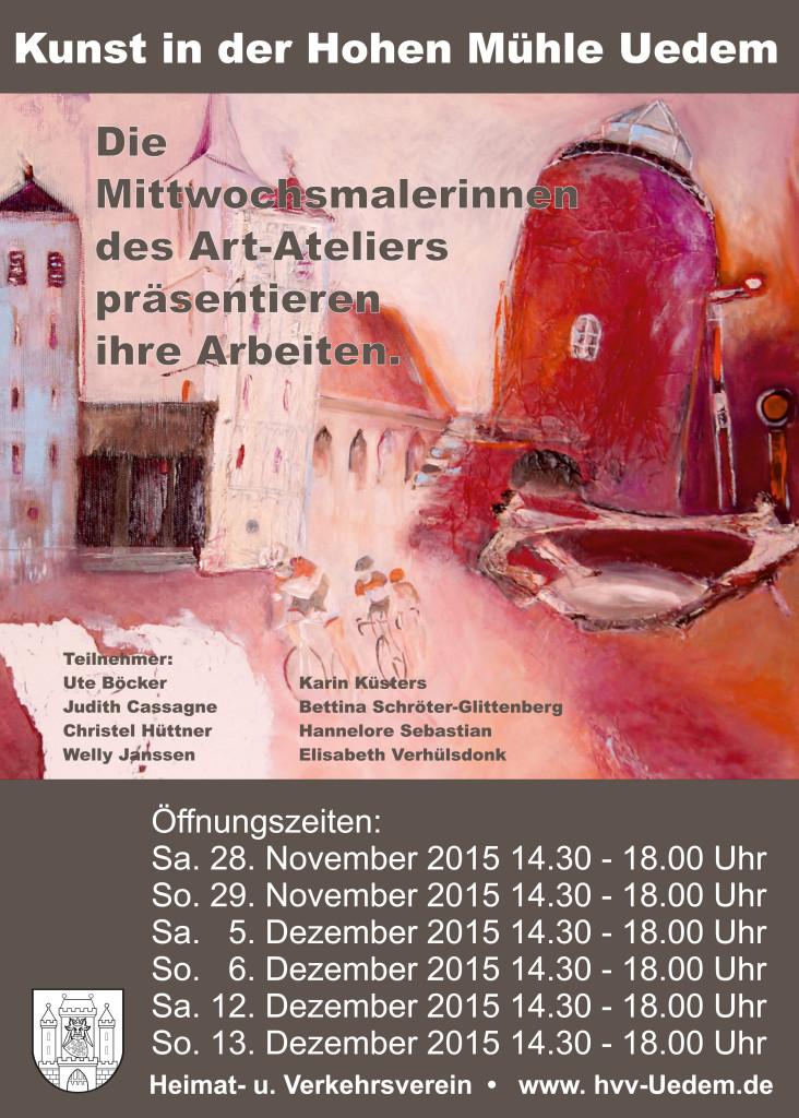 Plakat Kunst in der Hohen Mühle 2015